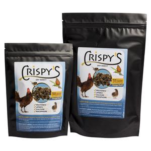 Crispy's 250 friandises insectes pour volailles en sachet noir de 250 g 230270