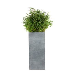 Pot carré haut Stream S/3 anthracite H.90 cm 230312