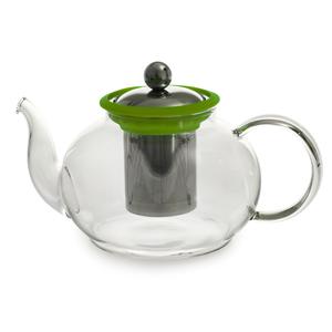 Théière Boro en verre 1 litre verte Ø 14,5 x H 11 cm 230824