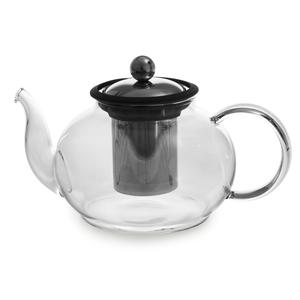 Théière Boro en verre 1 litre noire Ø 14,5 x H 11 cm 230825