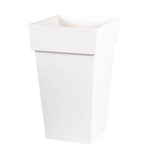 Pot TOSCANE carré haut blanc L.40 x l.39 x H.65 cm 231187
