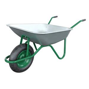 Brouette de jardinage gris/vert Galva 85L 231438