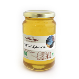 Miel d'acacia bio dans pot en verre de 375 g 232742