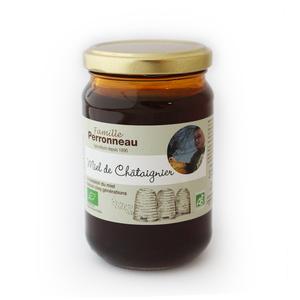 Miel de châtaignier bio dans pot en verre de 375 g 232745