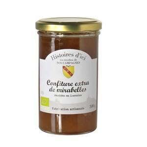 Confiture de mirabelles bio de Lorraine Histoire d'ici 300 g 233279