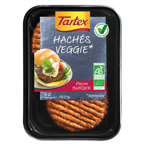 Haches veggie façon burger 150 g TARTEX 233613