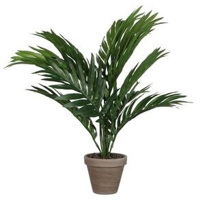 Palmier vert plante artificielle en pot Stan gris H 45 x Ø 60 cm 234144