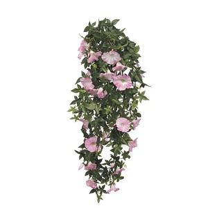 Chute de Liseron rose fleur artificielle 80x20x15 cm 234195
