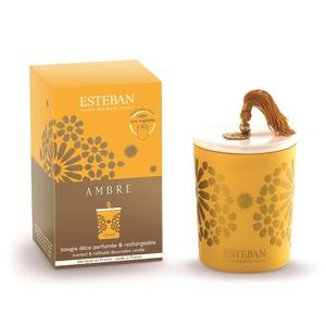 Bougie parfum Rechargeable Ambre ESTEBAN 170 gr 234556