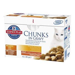 Pack de sachets pour chat 4 saveurs Hills - 12 x 85 gr 234657