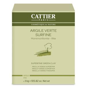 Argile verte surfine Cattier en pot de 3 kg 242573
