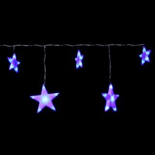 Rideau lumineux 5 étoiles bleues 160 cm 243856
