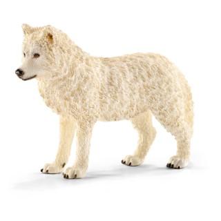 Figurine Loup arctique Série Animaux sauvages 8,8x2,8x6,1 cm 245558