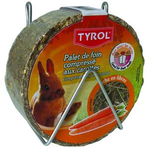 Palet de foin compressé aux carottes pour Lapin Tyrol 240g 245569