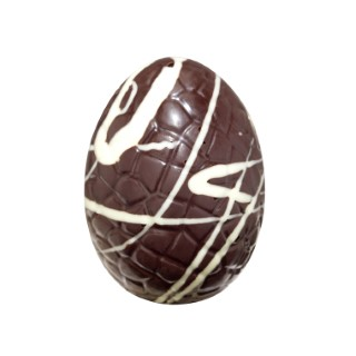 Petit œuf en chocolat à cacher noir zébré - 30 gr 246001