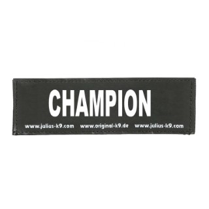 Label champion pour harnais julius taille baby 2 et mini 246367