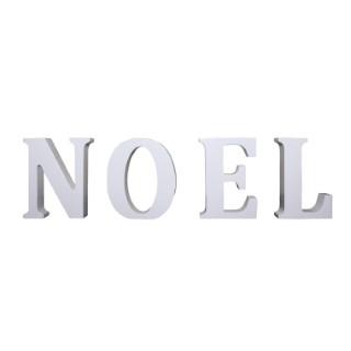 Lettre N O E L blanc 8 cm de hauteur 246628