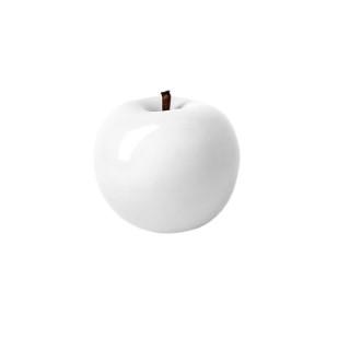 Pomme décorative à suspendre blanc laqué Ø 9 cm 246700