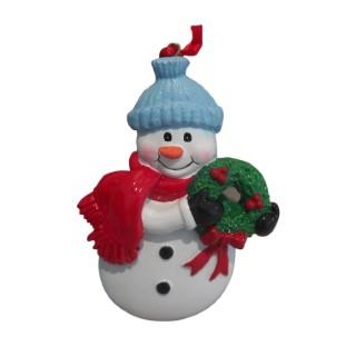 Bonhomme de neige à écharpe rouge 35 cm de haut 247179