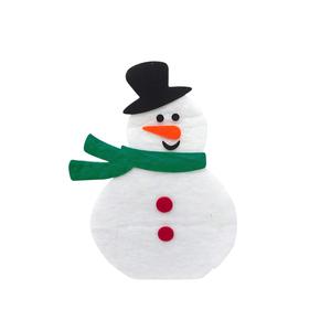 Bonhomme de neige écharpe verte 65 cm de haut 247180