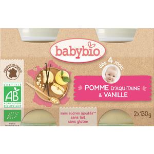 Petits pots pomme Babybio 2 x 130 g 248202