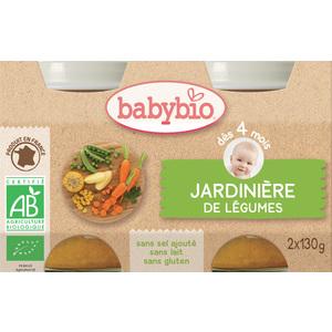 Petits pots de jardinière de légumes Babybio 2 x 130 g 248216