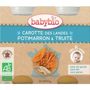 Menu du jour légumes bios et truite Babybio 2 x 200 g 248227
