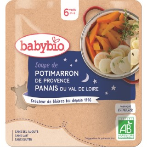 Soupe de potimarron et panais Babybio 190 g 248235