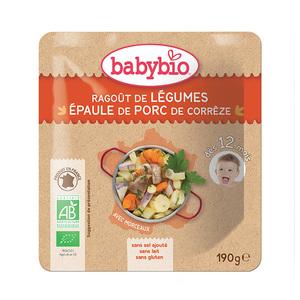 Menu du jour ragout de légume et porc Babybio 190 g 248240
