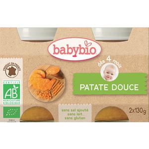 Petits pots de patate douce Babybio 2 x 130 g 248244