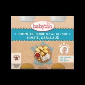 Menu du jour pomme de terre et cabillaud sauvage Babybio 2 x 200 g 248247