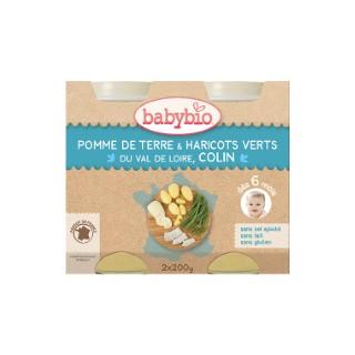 Menu du jour légumes et colin sauvage Babybio 2 x 200 g 248248