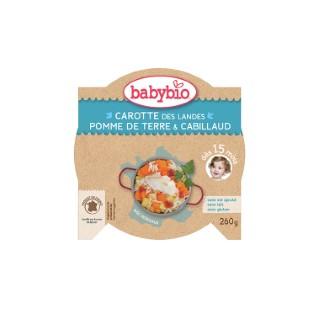Menu du jour légumes bios et cabillaud sauvage Babybio 260 g 248258