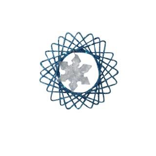 Fleur pailletée bleue 10 cm à suspendre 248283