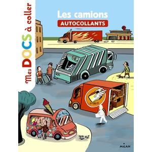 Les Camions Mes Docs à Coller dès 3 ans Éditions Milan 256075