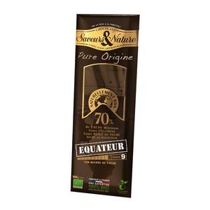 Tablette de chocolat noir 70% Equateur 100 g 257644