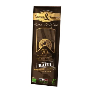 Tablette de chocolat noir 70% Haïti 100 g 257645