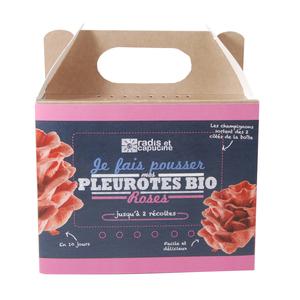 Kit de culture pour champignons pleurotes roses bio 25x20x15 cm 258057