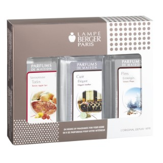 Coffret Triopack festif de 3 parfums pour lampe Berger 3 x 180 ml 258062