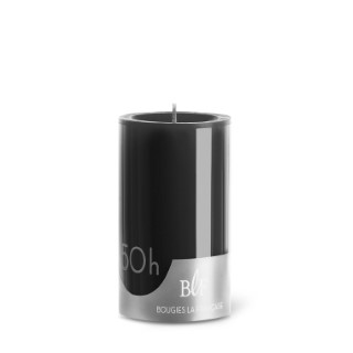 Bougie cylindrique teintée noire 7 cm x 10 cm 258489
