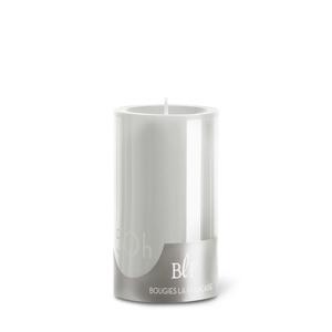 Bougie cylindrique teintée grise 7 cm x 10 cm 258490