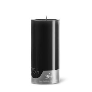 Bougie cylindrique teintée noire 7 cm x 15 cm 258496