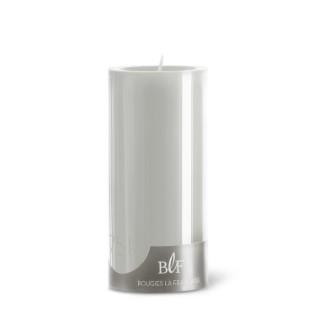 Bougie cylindrique teintée grise 7 cm x 15 cm 258497