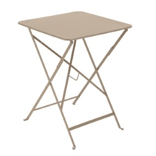Table pliante carrée couleur muscade 57 x 57 x 74 cm 259018