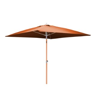 Parasol carré orange 2 m mât télescopique 259733