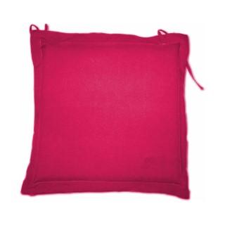 Galette d'assise rose framboise 40 x 40 cm 259736