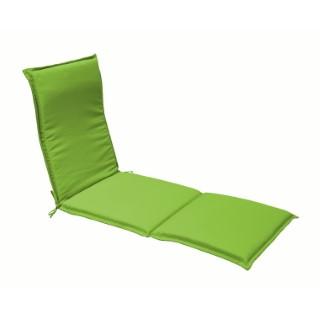Coussin pour bain de soleil en polyester vert - 190 x 60 cm 259757