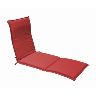 Coussin pour bain de soleil en polyester rouge - 190 x 60 cm 259759