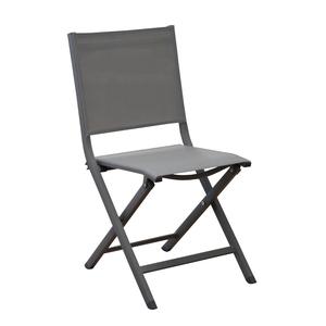 Chaise pliante Max en aluminium café 90 x 45 x 52 cm 259796