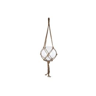 Suspension Carice en corde avec boule en verre Ø 33,5 x H 140 cm 260061
